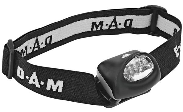 DAM Kopflampe Mehrfarbe (rot/weiss)