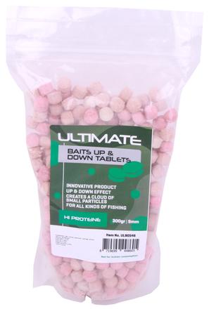 Ultimate Baits Up & Down Tablets 9mm, geben unter Wasser Geruchs-, Farb- und Aromastoffe ab
