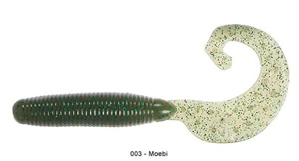 """Reins Fat G Tail Grub 4"""", 10 St. (8 Farben zur Wahl) - 003 Moebi:"""
