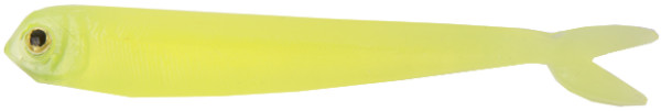 "Fishbelly Hawg Shads Split Tail 5"", 5 Stück (12 Optionen) - Clear Chartreuse"