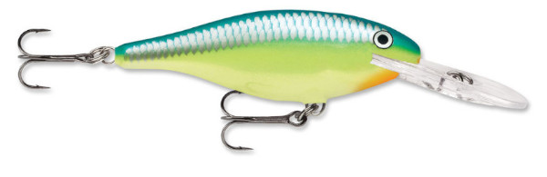 Rapala Shad Rap 07 (10 Optionen) - Caribbean Shad