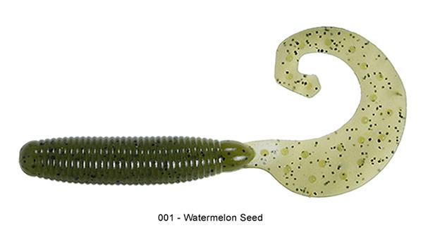 "Reins Fat G Tail Grub 4"", 10 St. (8 Farben zur Wahl) - 001 Watermelon:"