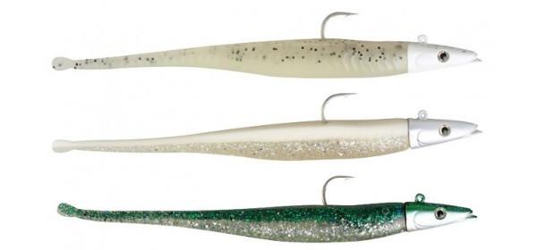 Savage Gear Sandeel Darter (keuze uit 4 opties) - Van boven naar beneden: Glow, Real Pearl Silver, Baby Mack.