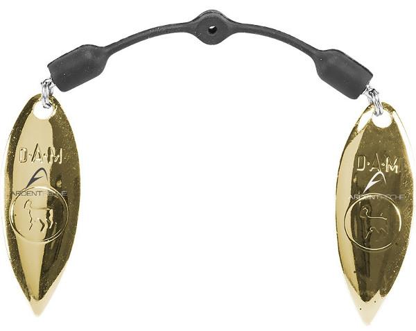 Effzett Twin Spinner Blades Spreader, erhöht die Attraktivität eures Shads, oder Jigs! (4 Optionen) - Willow Gold
