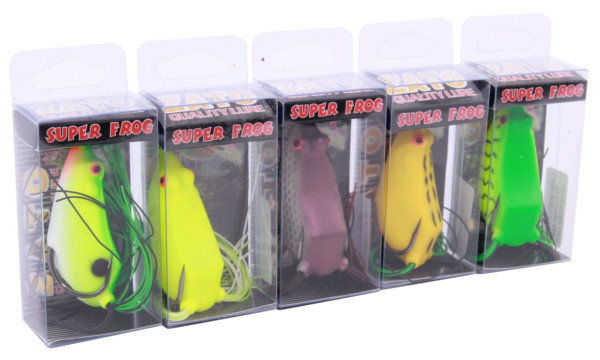 Kato Super Frogs (5 Optionen) - Green, Fluo, Purple, Yellow, Green Tiger