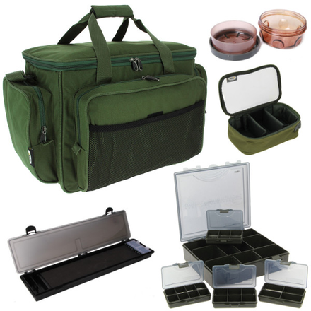 Carp Carryall Kit mit Tacklebox, Dip Pots, Bit Boxes, Lead Bag und mehr!