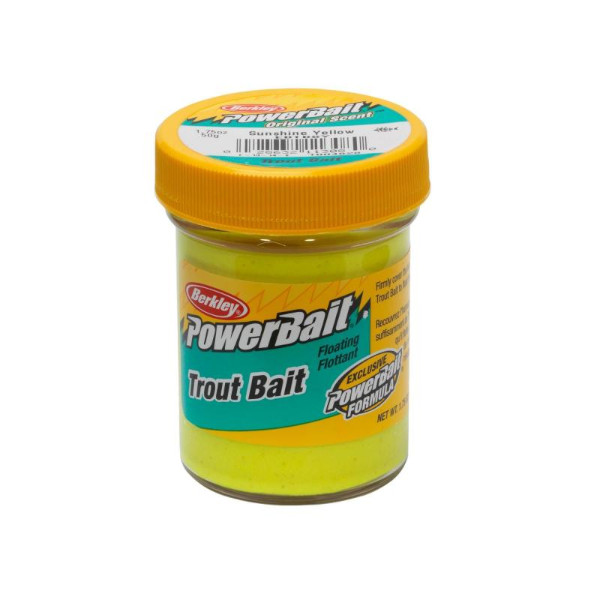 Berkley Powerbait Biodegradable Trout Bait (7 Optionen) - Sunshine Yellow