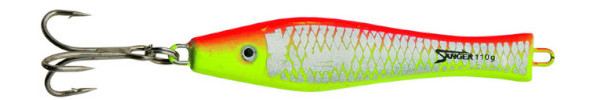 Aquantic 3D Holo Pilker 400g (5 Optionen) - Red / Yellow