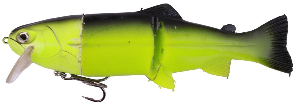 "Castaic Hard Head Real Bait 9"" Slow Sinking (mehrere Optionen) - Chartreuse"