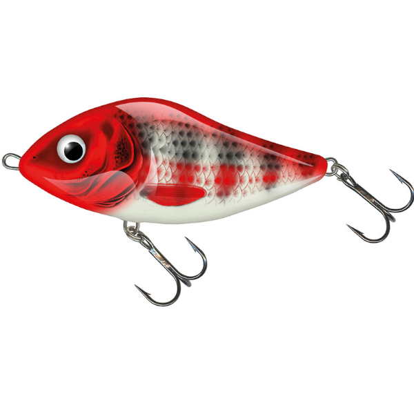 Salmo Slider 7cm Floating (mehrere Optionen) - Red Head Striper