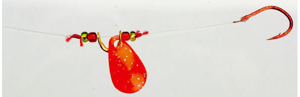 4 St. Iron Trout Spin Rig - Red
