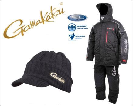 Bekleidung Angelsport Gamakatsu Thermal Suits Black Größe L