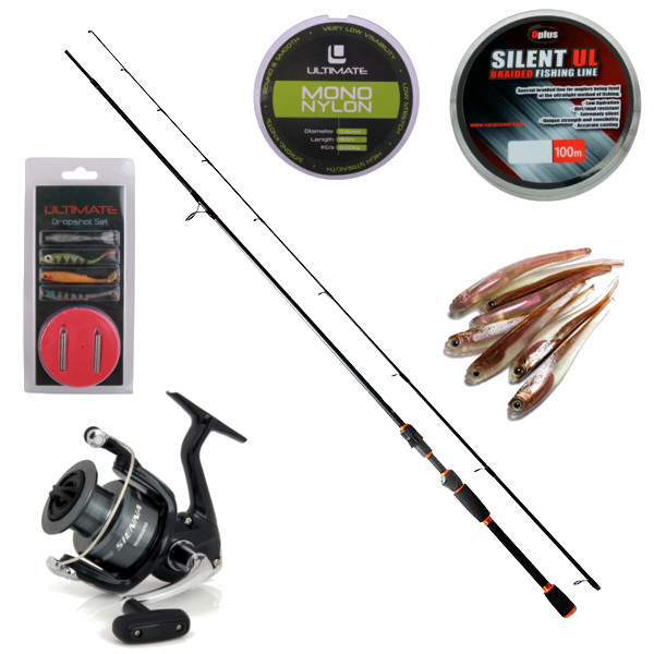 Komplettes Dropshot Set mit Shimano Rolle und NGT Rute