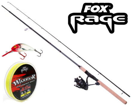 FOX RAGE Warrior 2 Spin 2,1m 15-50g Spinnrute by TACKLE-DEALS !!!