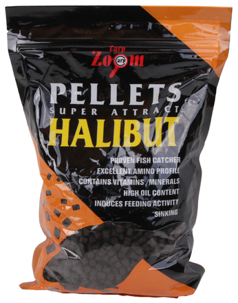 Carp Zoom Feeding Black Halibut Pellets 800 g