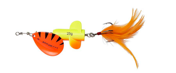 Effzett Rattlin' Spinner #5 (mehrere Optionen) - Fluo Yellow/Orange