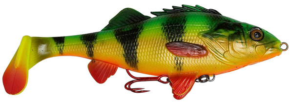 Savage Gear 4D Perch Shad 17,5cm (mehrere Optionen) - Firetiger