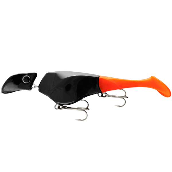 Headbanger Shad	22cm Suspending 73g (mehrere Optionen) - Black/Orange