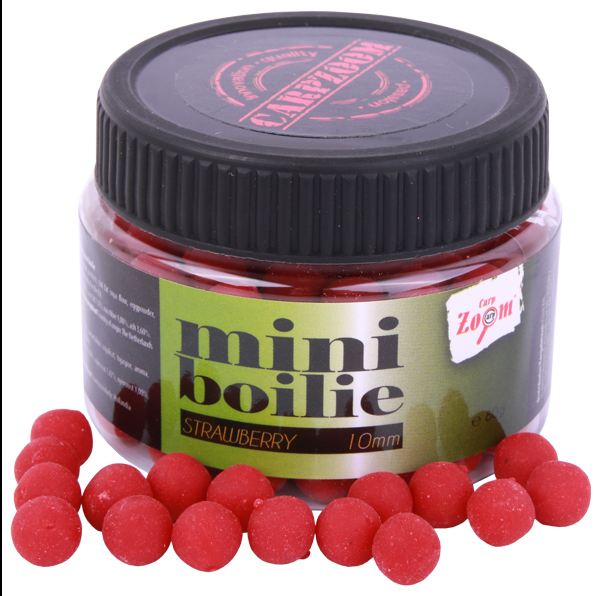 Carp Zoom Mini Boilie 10mm 80g (8 Optionen) - Strawberry