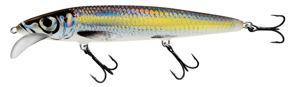 Salmo Whacky 9cm - Silver Chartreuse Shad