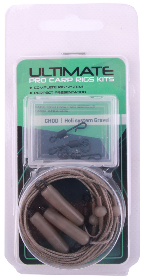 Ultimate Leadcore Heli-Rig Kit, 3 St. - Gravel