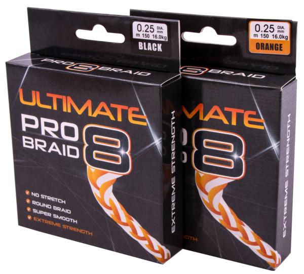 Ultimate Pro-8 Braid (wahlweise Fluo Orange & Black, viele Durchmesser verfügbar!)