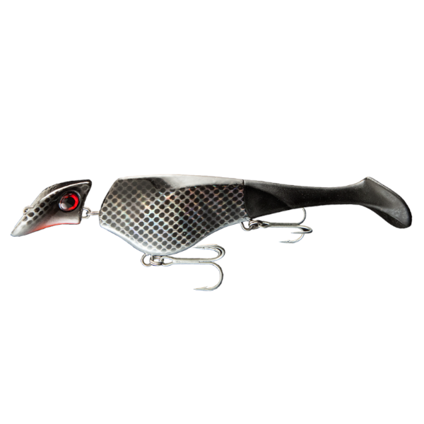 Headbanger Shad	22cm Suspending 73g (mehrere Optionen) - Black Metal