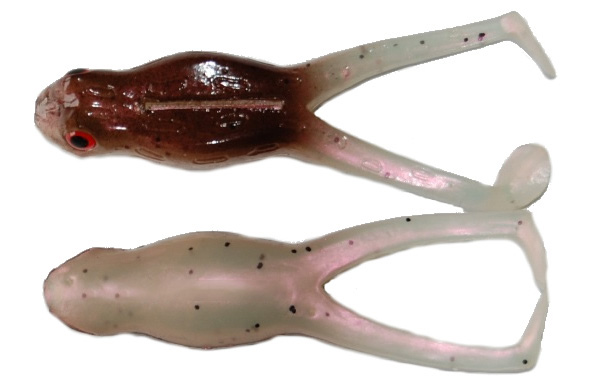 "Tournament Baits Frog 3"", 3 Stück! - Brown Pearl"