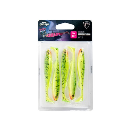 Fox Rage Slick Shad Lemon Tiger UV Packs 5pcs (mehrere Optionen)